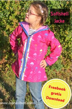 Freebook: Carl (a) for a softshell jacket Sewing Projects For Kids, Sewing For Kids, Diy For Kids, Boho Outfits, Kids Outfits, Fashion Outfits, Sewing Patterns Free, Free Pattern, Free Sewing