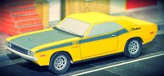 PAPERMAU: 1970`s Classic Dodge Chalenger Paper Model - by Race Paper