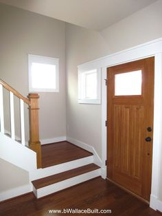 stairs attached to the foyer