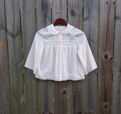 XS S Extra Small Vintage White/Pale Pink by PinkCheetahVintage