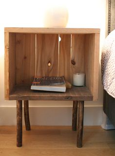 Another Wood Crate Bedside Table: Love This!