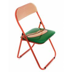 Shop the 'Hot Dog' folding chair from the collection BLOW, a collaboration between Italian design brand Seletti and Dutch design duo Studio Job. Used Chairs, Metal Chairs, Cool Chairs, Black Chairs, High Chairs, Design Vase, Chair Design, Eames Chairs, Patio Chairs