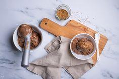 Παγωτό μόκα-ταχίνι, χωρίς παγωτομηχανή: εύκολο & λαχταριστό - madameginger.com Dairy Free, Gluten Free, Healthy Deserts, Tahini, Ice Cream, Sweets, Cooking, Desserts, Recipes