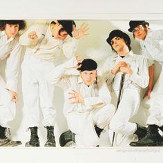 Photoshoot: My Chemical Romance, Clockwork Orange theme. Pamela Littky, photographer. July, 2005. Ray Toro, Frank Iero, Bob Bryar, Gerard Way, Mikey Way.