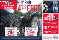 General Tire, Pep Boys, Weekly Ads, 27 September, July 31, Monster Trucks, United States, U.s. States
