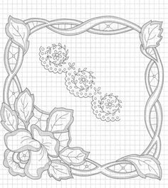 another pattern for a corner -Cutwaork embroidery