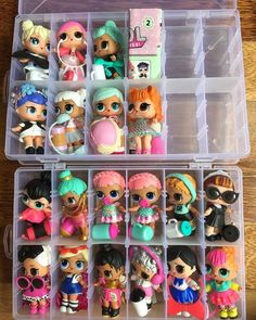 Keeping LOL dolls organized Doll Organization, Doll Storage, Toys For Girls, Kids Toys, Plastik Box, Doll Party, Barbie, Lol Dolls, 8th Birthday