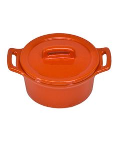 Take a look at this Orange Round Mini Baker & Lid - Set of Four by Omniware Inc.  on #zulily today!