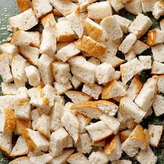 Learn the right way to make delicious homemade bread cubes. Easy, homemade bread cubes are perfect for stuffing recipes, breakfast casseroles, and other tasty Homemade Stuffing, Stuffing Recipes, Homemade Breads, Dry Bread, Fresh Bread, Thanksgiving Side Dishes, Thanksgiving Recipes, Thanksgiving Stuffing, Christmas Stuffing