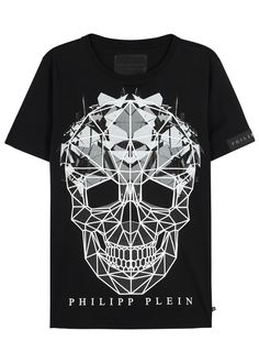 Philipp Plein 'cryptic' T-shirt In Black Philipp Plein T Shirt, Philip Plein, Skull Shirts, Men's Shirts, Cotton Shirts For Men, Cool Graphic Tees, Weird Fashion, Men's Fashion, Manish