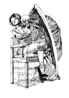 The Kiss Couch Throw Pillow by Yury Fadeev - Cover x with pillow insert - Indoor Pillow Mädchen In Bikinis, Comic Art Girls, Pulp Fiction Art, Rope Art, Airplane Art, Dark Art Drawings, Universe Art, Flash Art, Dark Fantasy Art