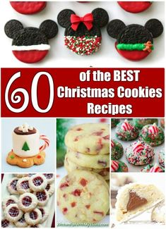 60 of the BEST Christmas Cookie Recipes - These are all so festive and delicious. You will hands down have the best cookie tray if you make a hand full of these ideas!