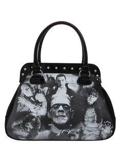 Rock Rebel Universal Monsters Collage Bag,