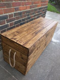Long Rustic Storage Bench