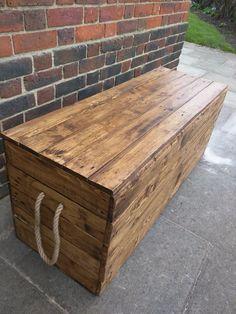 Long Rustic Storage Bench