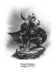 Walker T. Tribute - Westie Warrior - Critter Kingdoms™ Anthropomorphic Animals - Miniature Lines