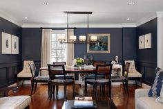 blue dining room stylish dark navy designs decorating ideas design trends