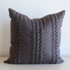 Braided Pillow – www.SummerHouseStyle.com