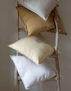 Confection en tissus LIN tan, blanc, stone, sable