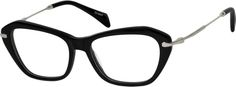 Women's Black 7873 Acetate Full-Rim Frame with Metal Alloy Temples | Zenni Optical Glasses