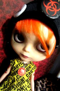 Custom Blythe Doll Toxic Punk Girl Comes with Dress by shepuppy, $395.00