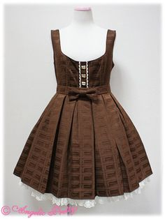 Royal Chocolate Round JSK in brown/beige - Angelic Pretty (2012) L