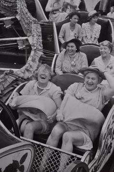 You can choose to live your life with the joy of the front row or solemness of the third row.hmmmmm--let me think. Front Row Please! I can think of a friend that would ride on the front row with me:))