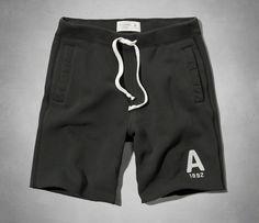 Abercrombie & Fitch Mens Fleece Sweat Shorts Dark Gray Size S