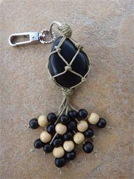 Tagua nut keychain/purse charm