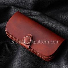 leather wallet patterns long wallet patterns PDF download, LWP-01, leather art leather craft patterns leathercraft patterns hand stitched pattern