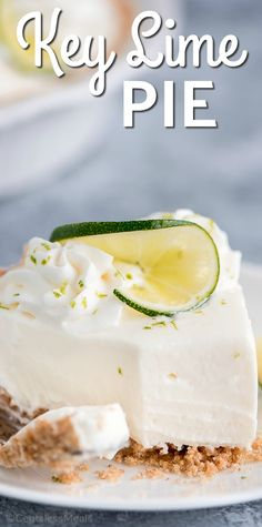 No Bake Key Lime Pie is an easy summer dessert that combines the citrus flavor of lime balanced by just enough sweetness to create a pie unlike anything you have ever tasted! Key Lime Desserts, Layered Desserts, Lemon Desserts, Citrus Recipes, Tart Recipes, Mexican Recipes, Desert Recipes, Just Pies, Biscuits