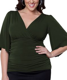 I have such a weakness for flowy sleeves! In love with this shirt (and they have sizes up to 5x which totally rocks).