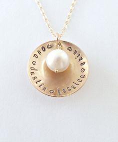Mothers Day Necklace/ Birthstone/ Grandma by vintagestampjewels