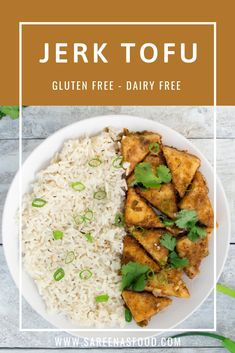 Crispy Jerk Tofu with Coconut Rice – Sareena's Food Other Recipes, My Recipes, Vegan Recipes, Spicy Dishes, Coconut Rice, Tofu, Risotto, Cravings, Dairy Free