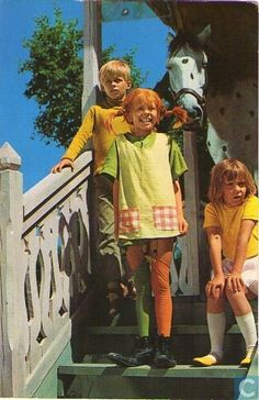 When I was a little girl, I books & movies about Pippi Långstrump :D. Pippi Longstocking series of children's books by Swedish author Astrid Lindgren. Halloween Cat, Halloween Costumes, Costume Carnaval, Halloween Disfraces, My Childhood Memories, Old Tv, Cultura Pop, Classic Tv, Back In The Day