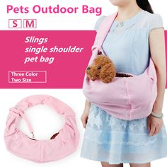 2016 New Dog Carriers Bags Soft Hoodies Fabric Wide Shoulder Strap Wind Proof Slings Bags For Small Dog Cat Outdoor Bags-C Pet Travel, Travel Backpack, Dog Sling, Airline Pet Carrier, Dog Carrier Bag, Bunny Care, Pet Bag, Pet Carriers, Small Dogs