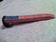american flag railroad spike