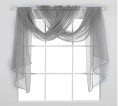 Deconovo Solid Sheer Curtains Light Sheer Panels Window Curtains for Kitchen . Deconovo Solid Sheer Curtains Light Sheer Panels Window Curtains for Kitchen # hair system for kitc. Swag Curtains, Home Curtains, Sheer Curtains, Kitchen Curtains, Bathroom Window Curtains, Window Blinds, Living Room Decor, Living Spaces, Bedroom Decor