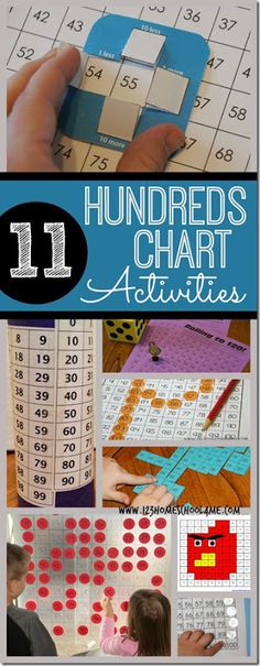 Here are 11 FREE Hundreds Chart Activities. There are lots of ways to use this chart to practice math. Click here for more free math                                                                                                                                                                                 More