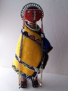 AFRICAN TRIBAL DOLL NDEBELE BEADED TRADITIONAL EMBRACE THE ZIMBABWE CULTURE