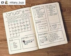 "1,818 Likes, 12 Comments - Bullet Journal Inspire  (@bujoinspire) on Instagram: ""#Repost @nittany_bujo with @repostapp ・・・ Wanted to show you guys my filled in January layout! Do…"""