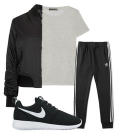 """""""Untitled #174"""" by kingrabia on Polyvore featuring rag & bone, adidas, Topshop and NIKE"""