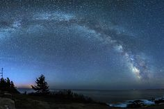 Milky Way Over Acadia National Park: Christopher Georgia captured this stunning night sky panorama of the Milky Way from Hunter's Head in Acadia National Park, Maine.