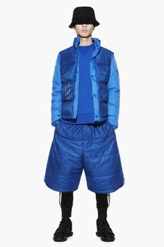 Y-3 Fall/Winter 2014 Editorial by Sneakerboy.  More blue here.