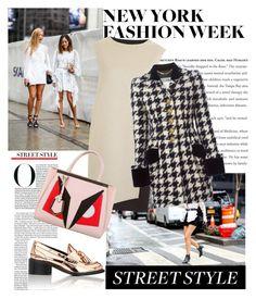 """NFW"" by antonija2807 ❤ liked on Polyvore featuring PINGHE, Moschino, STELLA McCARTNEY, Fendi, fashionWeek, fashionblogger, newyorkfashionweek and NFW"