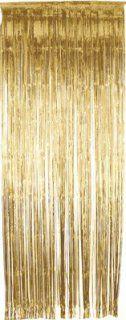 Glanz-Tür-Behang - Vorhang - gold - lang