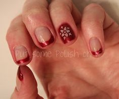 put some polish on it : french mani with accent stamping