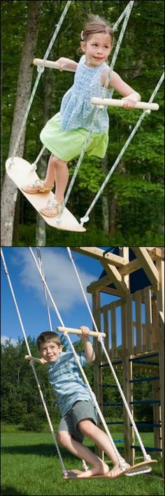 Are the kids begging for a swing? Forget the expensive swing set, all you need to get is a used skateboard! This DIY project only takes around 20 minutes to complete. Just perfect for kids excited to have their very own swing! http://diyprojects.ideas2live4.com/2015/09/30/skateboard-swing/ Is this going to be your next project for them? #kidsoutdoorplayhouse