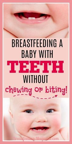 Breastfeeding a baby with teeth does not mean you need to deal with chewing and biting. You also don\'t need to wean. Here are some tips to help keep you pain free and breastfeeding. #breastfeeding #baby #momtips