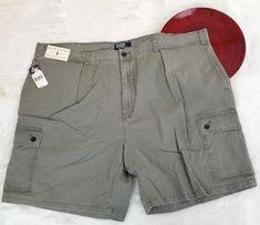 NWT Polo Ralph Lauren Mens Tarpoon Shorts Size 50 Big Gray Pleated Cargo Chino  #PoloRalphLauren #KhakisChinos